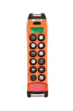 Radio remote for crane control